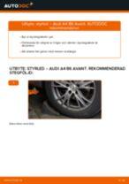 Steg-för-steg-guide i PDF om att byta Styrled i AUDI A4 Avant (8E5, B6)