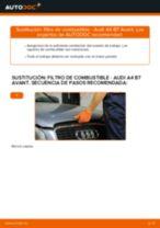 Cómo cambiar: filtro de combustible - Audi A4 B7 Avant | Guía de sustitución