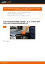 Kuinka vaihtaa polttoainesuodatin Audi A4 B7 Avant-autoon – vaihto-ohje