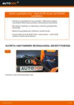 Kuinka vaihtaa pyyhkijänsulat eteen Audi A4 B7 Avant-autoon – vaihto-ohje