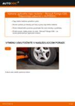 RENAULT Čap riadenia vymeniť vlastnými rukami - online návody pdf