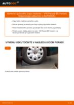 Odporúčania od automechanikov k výmene VW Passat B6 2.0 TDI 16V Lozisko kolesa