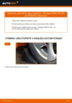 Montáž Čap riadenia PEUGEOT 206 CC (2D) - krok za krokom príručky