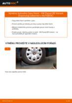 Doporučení od automechaniků k výměně VW Passat B6 2.0 TDI 16V Uložení Tlumičů