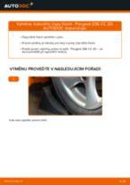 Doporučení od automechaniků k výměně PEUGEOT Peugeot 206 cc 2d 2.0 S16 Rameno Zavesenia Kolies
