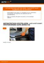Πώς να αλλάξετε φίλτρα αέρα σε Audi A4 B7 Avant - Οδηγίες αντικατάστασης