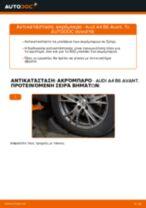 Πώς να αλλάξετε ακρόμπαρο σε Audi A4 B6 Avant - Οδηγίες αντικατάστασης