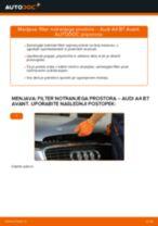 Kako zamenjati avtodel filter notranjega prostora na avtu Audi A4 B7 Avant – vodnik menjave