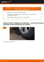 Como mudar terminal de direção em Audi A4 B7 Avant - guia de substituição