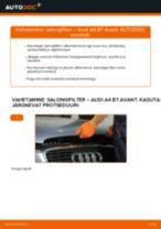 Paigaldus Salongi õhufilter AUDI A4 Avant (8ED, B7) - samm-sammuline käsiraamatute
