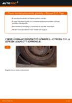 Hogyan cseréje és állítsuk be Gumiharang Készlet Kormányzás CITROËN C3: pdf útmutató