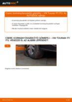Kormányösszekötő gömbfej-csere VW Touran 1T1 1T2 gépkocsin – Útmutató