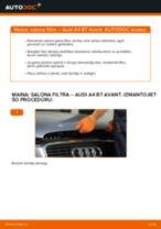 Kā nomainīt: salona gaisa filtru Audi A4 B7 Avant - nomaiņas ceļvedis