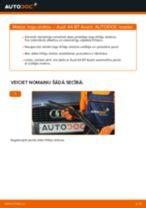 Kā nomainīt: priekšas logu slotiņas Audi A4 B7 Avant - nomaiņas ceļvedis