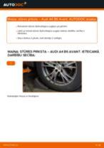 Kā nomainīt: stūres pirksta Audi A4 B6 Avant - nomaiņas ceļvedis