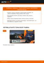 Pakeisti Amortizatoriaus Atraminis Guolis AUDI A4: instrukcija