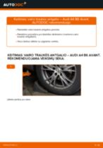 AUDI Skersinės vairo trauklės galas keitimas pasidaryk pats - internetinės instrukcijos pdf