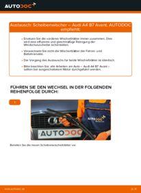 Wie der Wechsel durchführt wird: Scheibenwischer 2.0 TDI Audi A4 B7 Avant tauschen