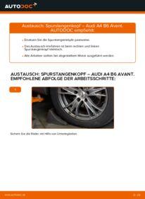 Wie der Wechsel durchführt wird: Spurstangenkopf 1.9 TDI Audi A4 B6 Avant tauschen