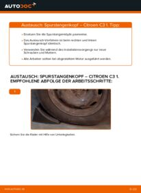 Wie der Wechsel durchführt wird: Spurstangenkopf 1.4 HDi CITROËN C3 I (FC_) tauschen