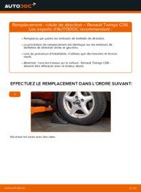 Comment effectuer un remplacement de Rotule De Direction sur 1.2 Renault Twingo 1