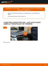 Slik bytter du Drivstoffilter på AUDI A4