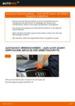 Blinkleuchten Glühlampe wechseln AUDI A4: Werkstatthandbuch