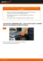 Wie Audi A4 B7 Avant Bremsbeläge vorne wechseln - Schritt für Schritt Anleitung