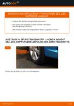 Ratschläge des Automechanikers zum Austausch von HONDA Honda Insight ZE2/ZE3 1.3 Hybrid (ZE2) Bremsbeläge