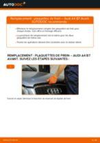Tutoriel PDF étape par étape sur le changement de Plaquettes de Frein sur AUDI A4 Avant (8ED, B7)
