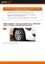 Comment changer Joint de rotule de direction MERCEDES-BENZ B-CLASS (W245) - manuel en ligne
