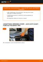 Udskift bremseklodser for - Audi A4 B7 Avant   Brugeranvisning