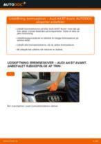 Udskift bremseskiver for - Audi A4 B7 Avant   Brugeranvisning