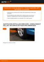 Cómo cambiar: rótula de dirección - Honda Insight ZE2_ZE3   Guía de sustitución