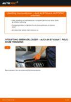 Slik bytter du bremseklosser fremme på en Audi A4 B7 Avant – veiledning