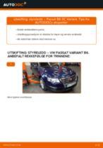 PDF med trinn for trinn-veiledning for bytte av BMW E46 Bremsetrommel