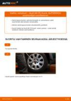 Kuinka vaihtaa vetonivel Audi A6 C5 Avant-autoon – vaihto-ohje
