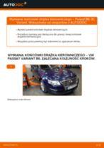 Jak wymienić końcówkę drążka kierowniczego w VW Passat 3C B6 Variant - poradnik naprawy