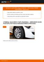 Ako vymeniť a regulovať Čap riadenia MERCEDES-BENZ B-CLASS: sprievodca pdf