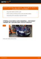 VW Čap riadenia vymeniť vlastnými rukami - online návody pdf
