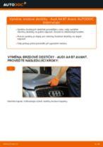 Výměna Sada brzdových čelistí parkovací brzda AUDI A4: zdarma pdf