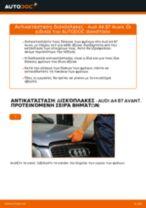 Πώς να αλλάξετε δισκόπλακες εμπρός σε Audi A4 B7 Avant - Οδηγίες αντικατάστασης