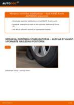 Kako zamenjati avtodel končnik stabilizatorja spredaj na avtu Audi A4 B7 Avant – vodnik menjave