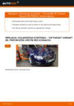 Kako zamenjati avtodel volanski končnik na avtu VW Passat 3C B6 Variant – vodnik menjave