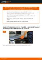 Como mudar discos de travão da parte dianteira em Audi A4 B7 Avant - guia de substituição