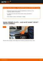 Kā nomainīt: priekšas bremžu klučus Audi A4 B7 Avant - nomaiņas ceļvedis