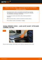 Kā nomainīt: priekšas bremžu diskus Audi A4 B7 Avant - nomaiņas ceļvedis