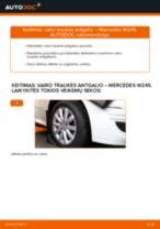 Kaip pakeisti Mercedes W245 vairo traukės antgalio - keitimo instrukcija