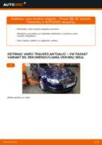 VW PASSAT Skersinės vairo trauklės galas keitimas: nemokamas pdf