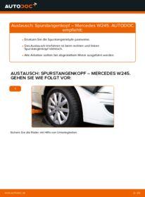 Wie der Wechsel durchführt wird: Spurstangenkopf B 180 CDI 2.0 (245.207) Mercedes W245 tauschen